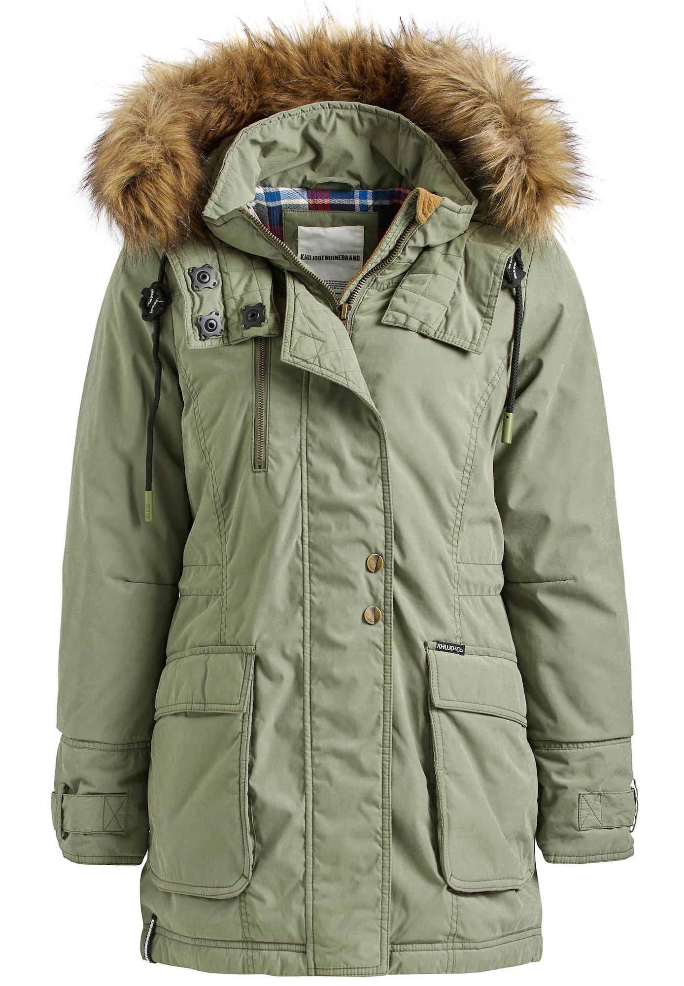 khujo Ilga žieminė striukė 'PONIA' alyvuogių spalva
