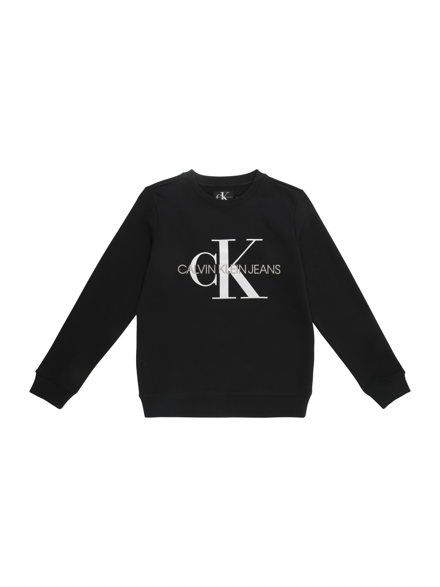 Calvin Klein Jeans Megztinis be užsegimo juoda / balta