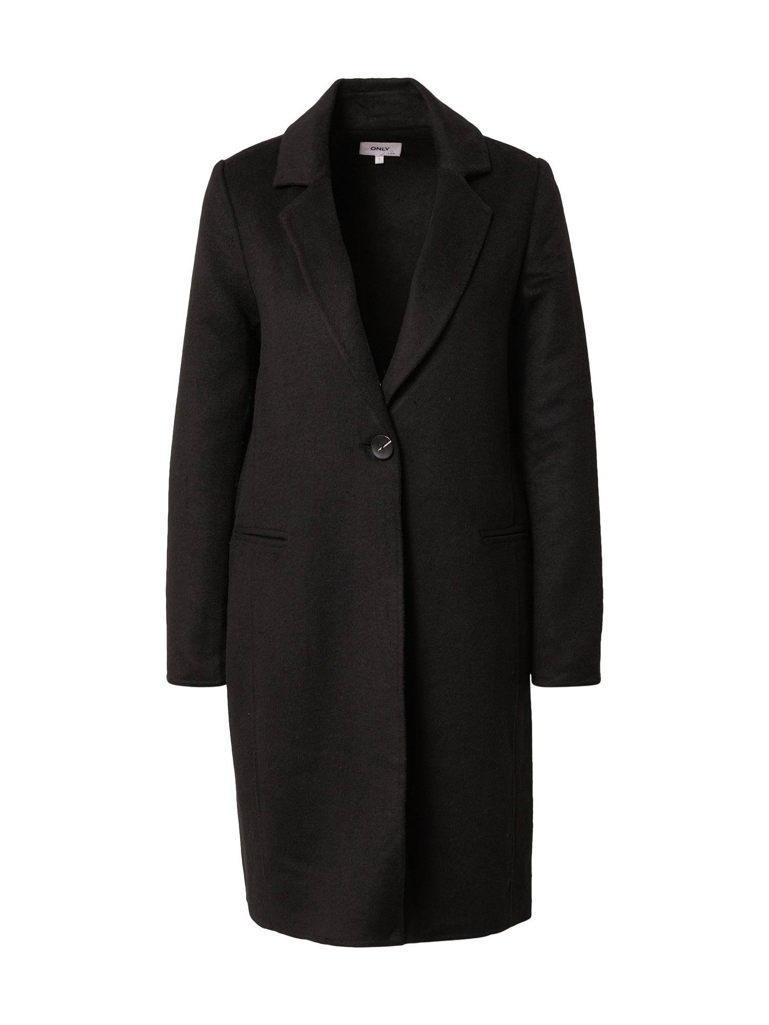 ONLY Přechodný kabát 'Milano'  černá