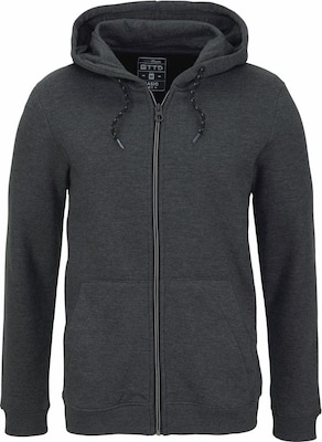 TOM TAILOR DENIM Sweatshirtjacke 'mélange'