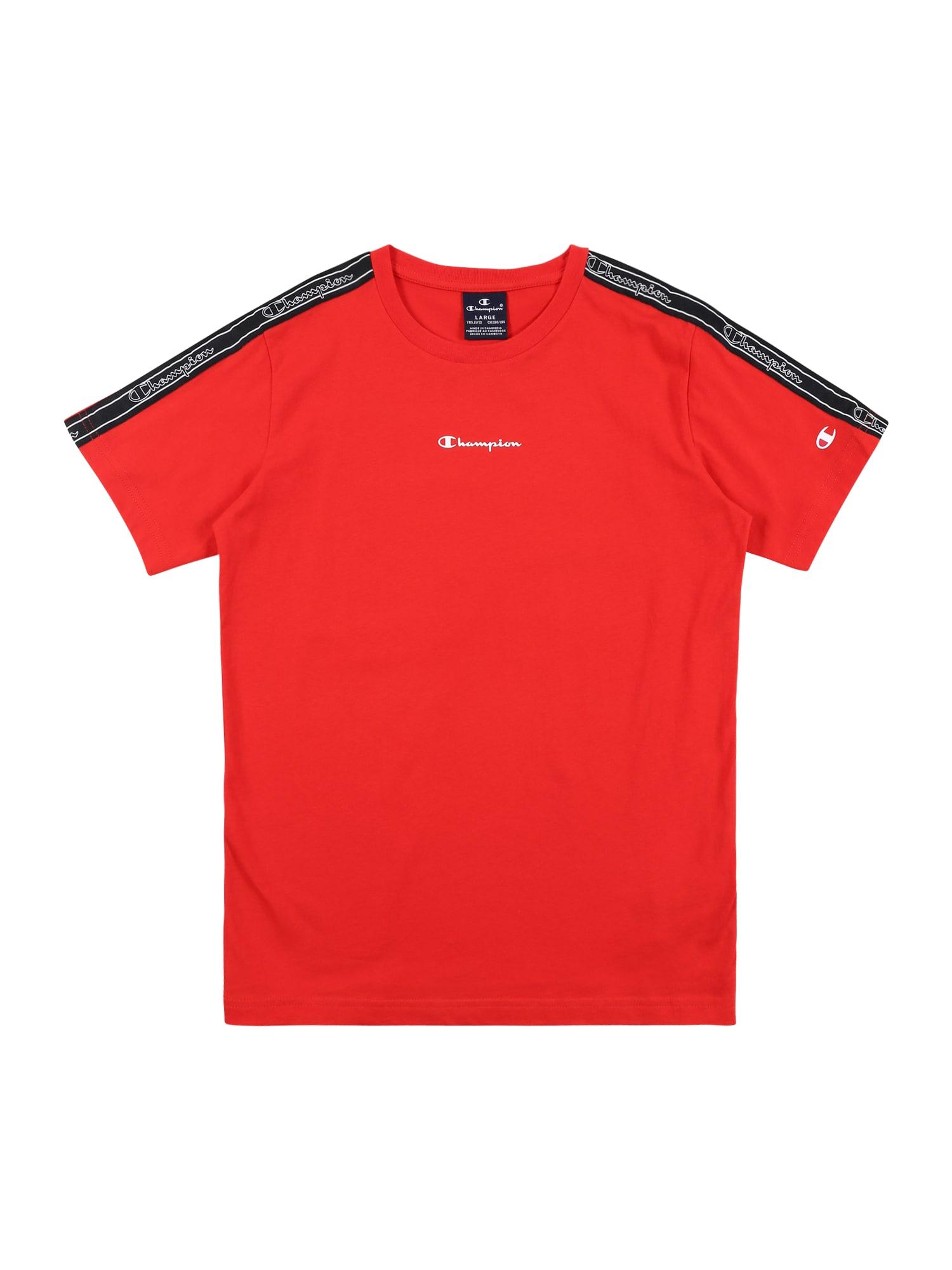 Champion Authentic Athletic Apparel Marškinėliai raudona / juoda