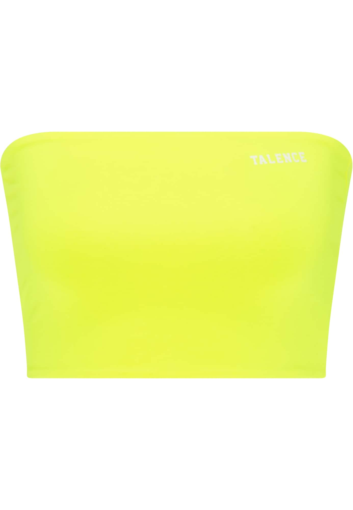 TALENCE Palaidinė be rankovių balta / neoninė geltona