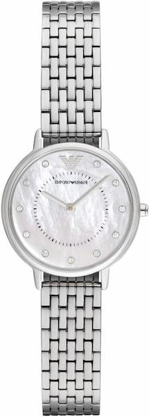 Uhren für Frauen - Emporio Armani Quarzuhr 'AR2511' silber weiß  - Onlineshop ABOUT YOU