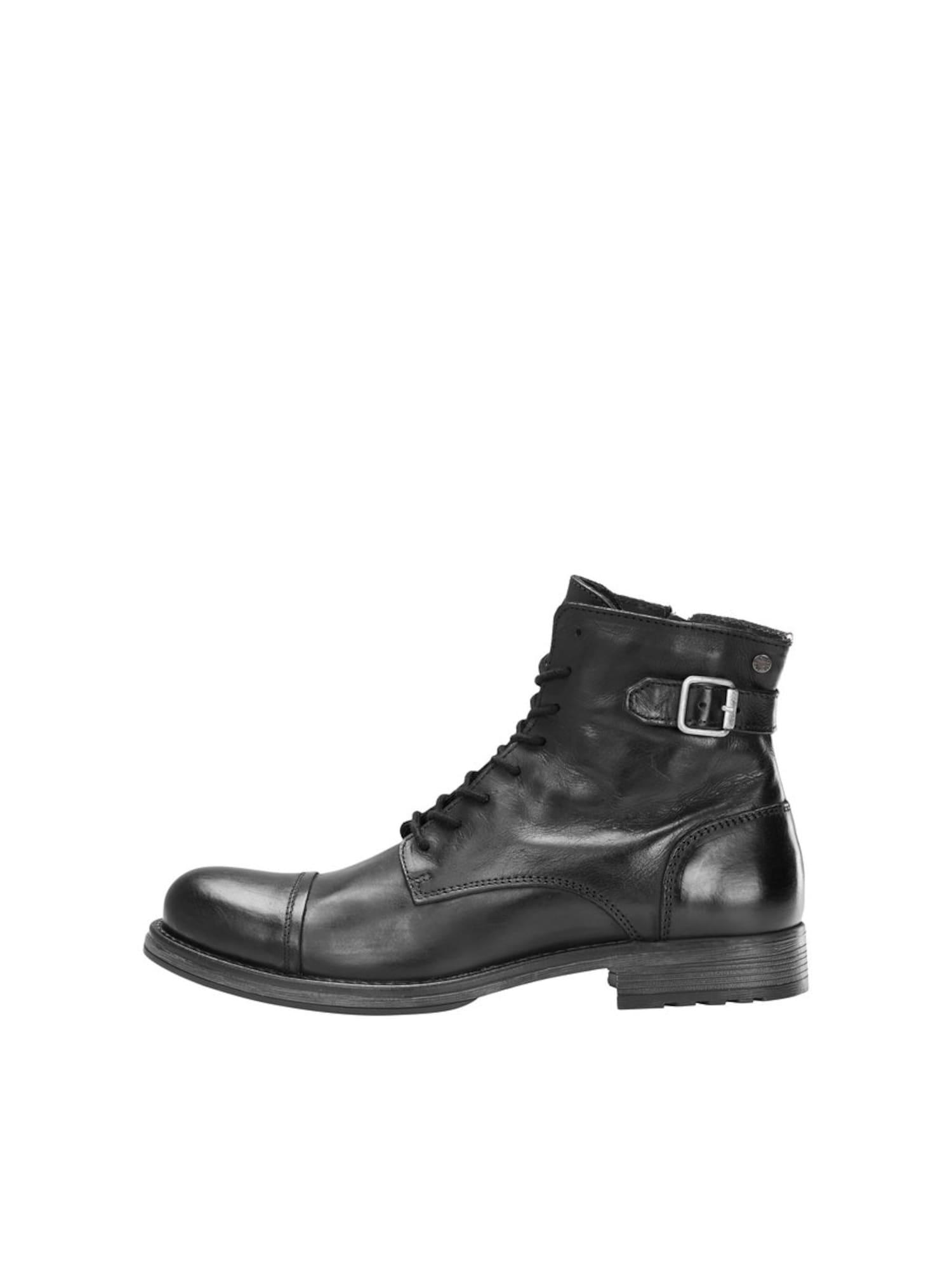JACK & JONES Auliniai batai su raišteliais antracito