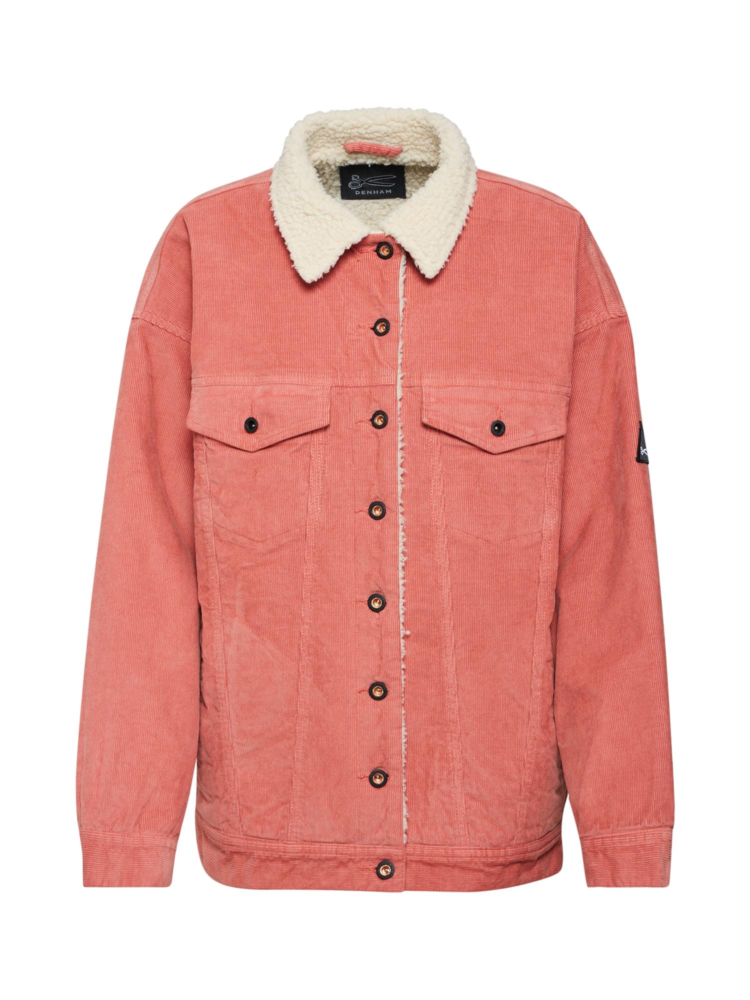 Přechodná bunda pastelově červená DENHAM