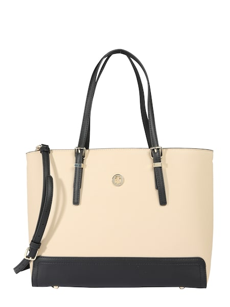 Shopper für Frauen - TOMMY HILFIGER Shopper 'Honey Med' sand schwarz  - Onlineshop ABOUT YOU