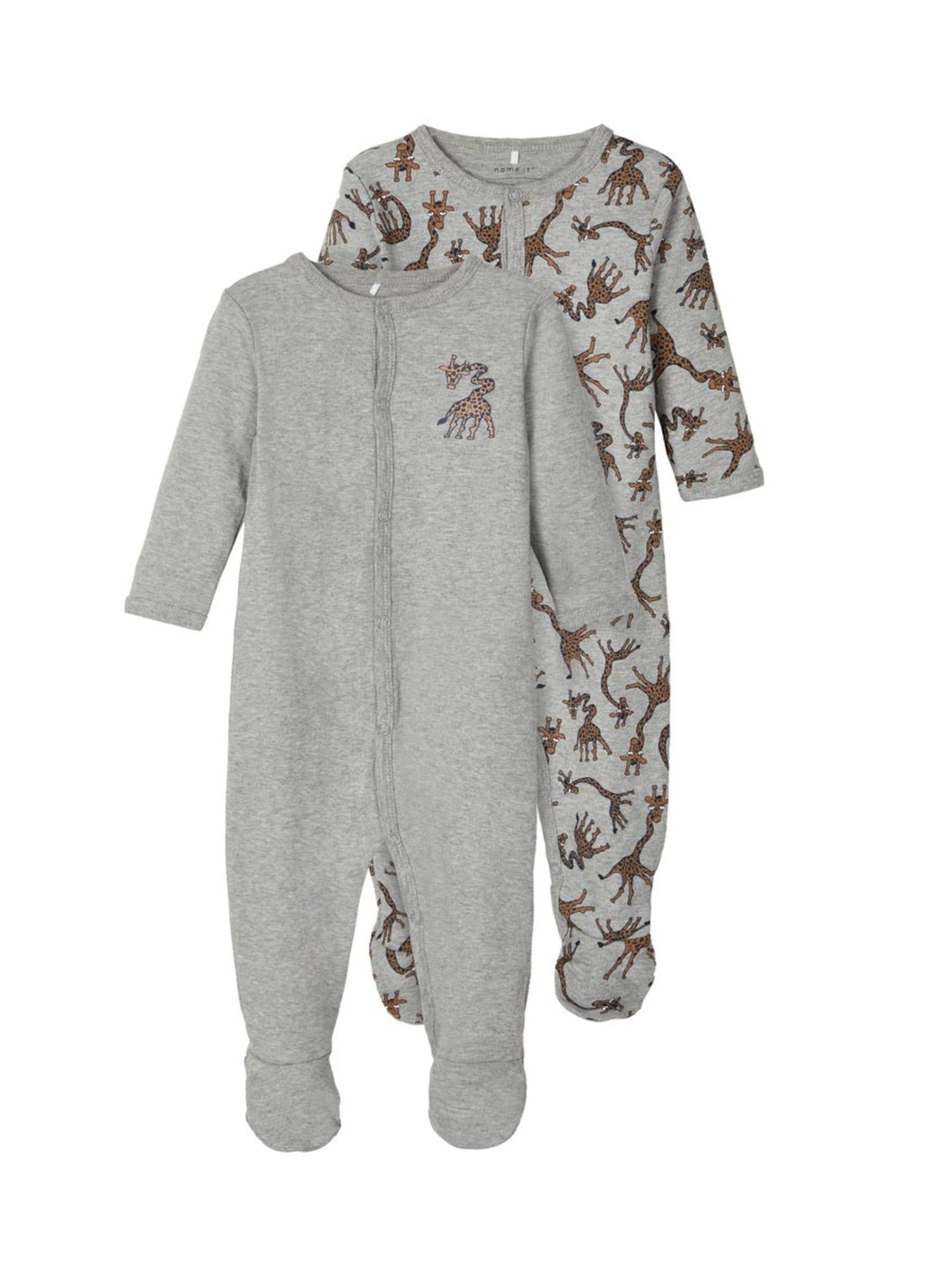 NAME IT Miego kostiumas mišrios spalvos / margai pilka