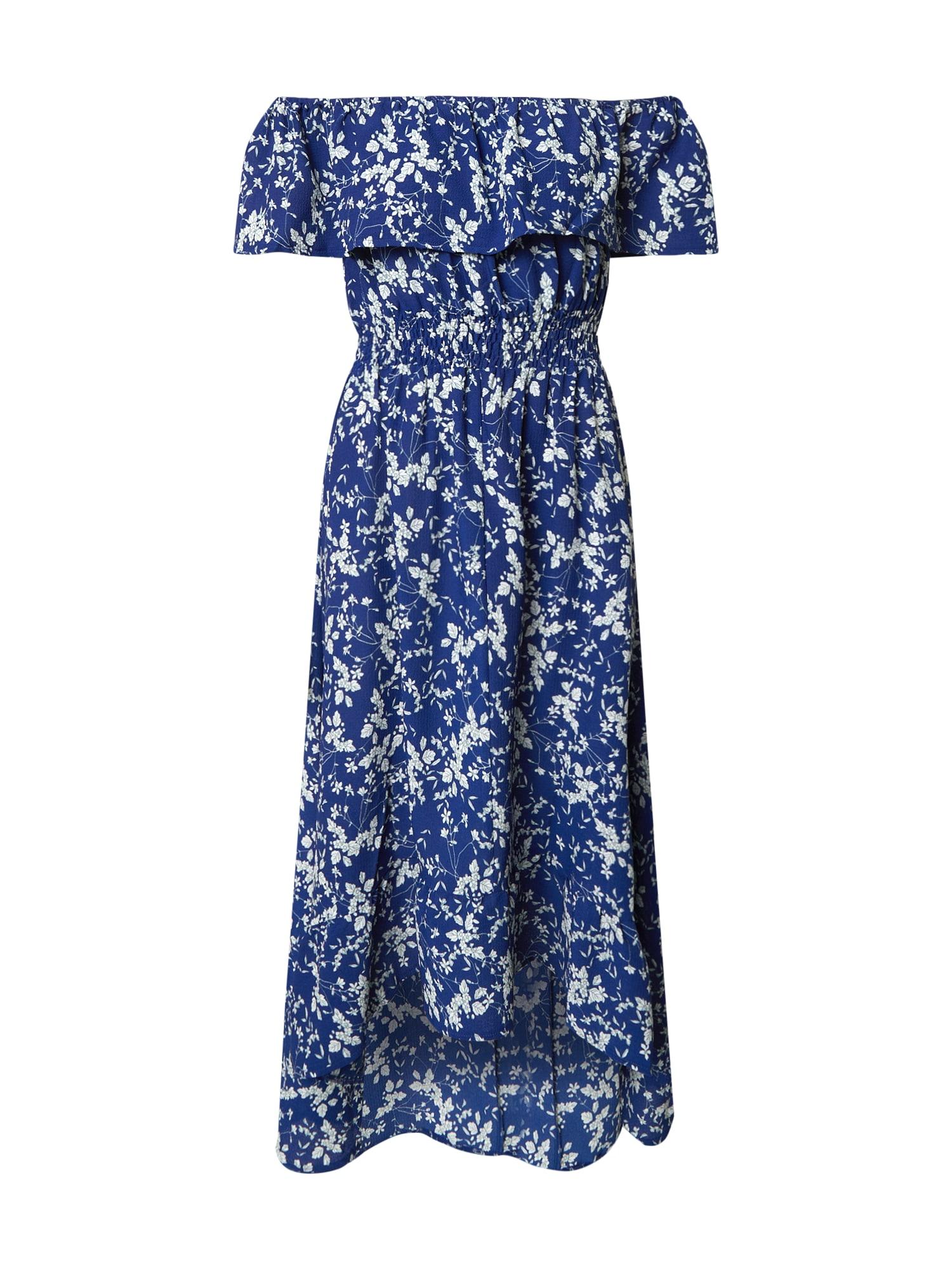 Mela London Letné šaty 'Bardot'  modré / biela