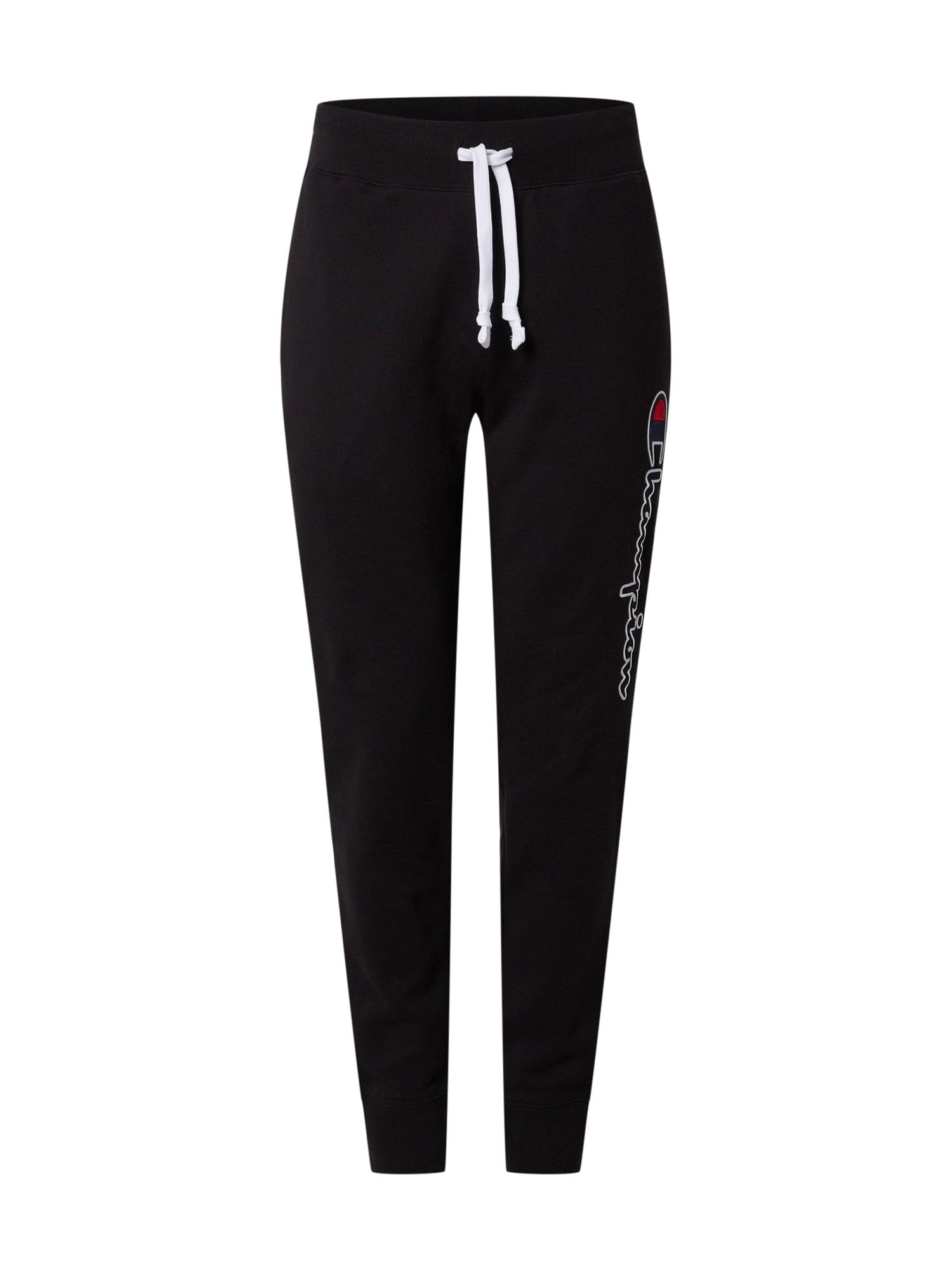 Champion Authentic Athletic Apparel Kelnės juoda / tamsiai mėlyna / balta / raudona