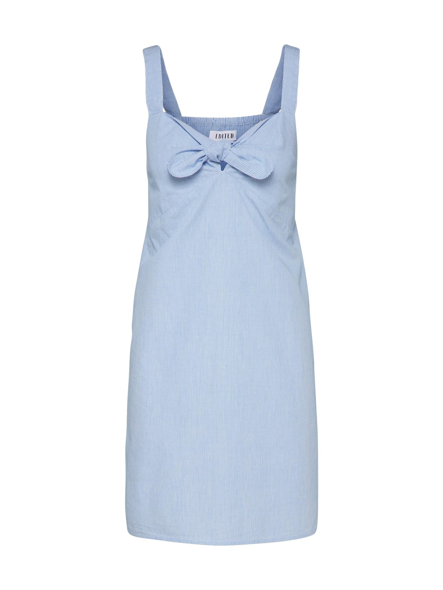 Letní šaty Amala modrá bílá EDITED