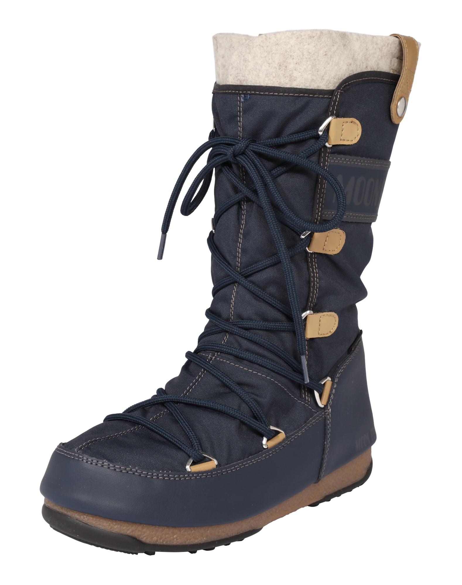 MOON BOOT Sniego batai 'Monaco felt' tamsiai mėlyna jūros spalva