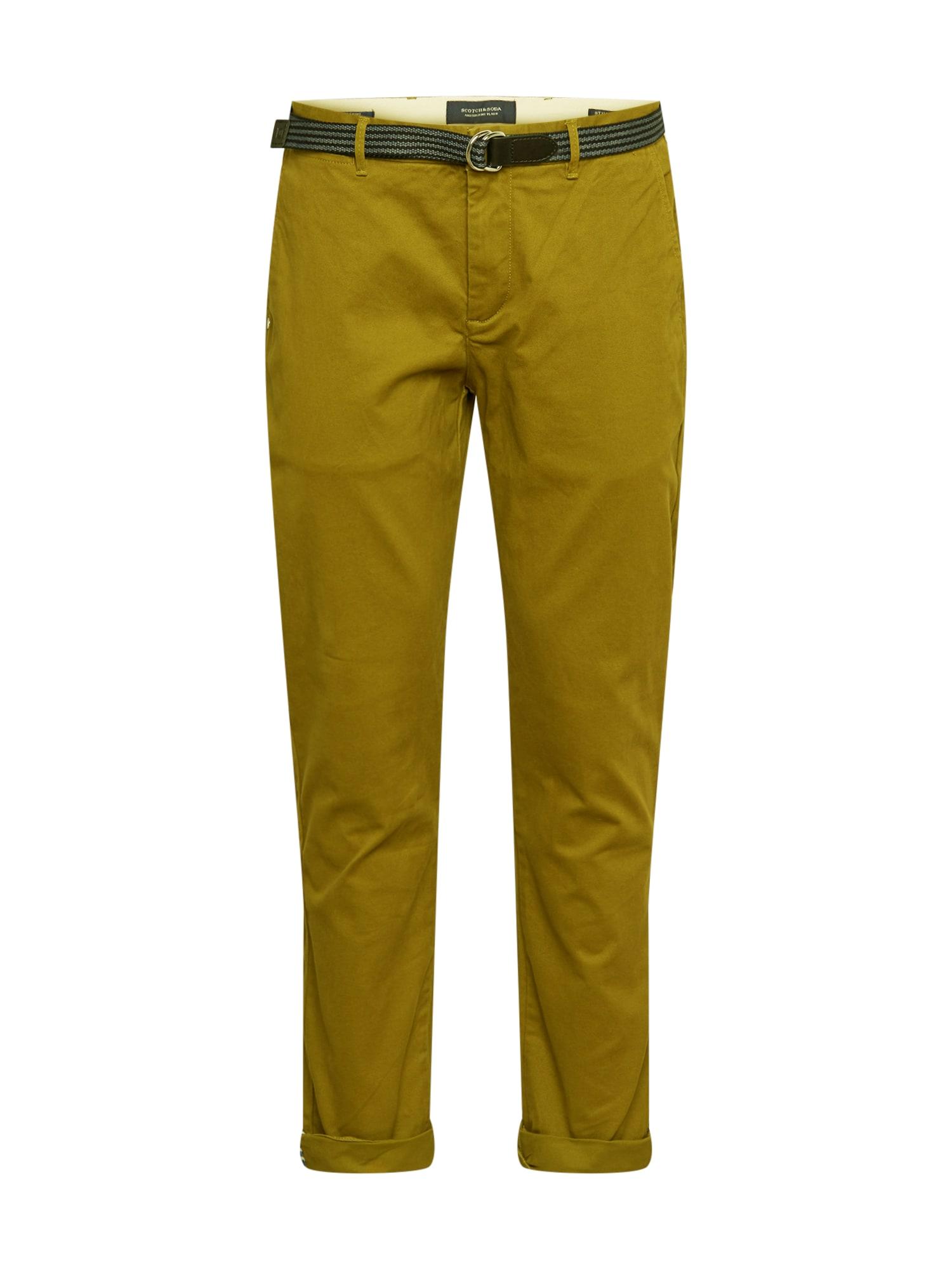 SCOTCH & SODA Chino kalhoty 'Stuart'  olivová