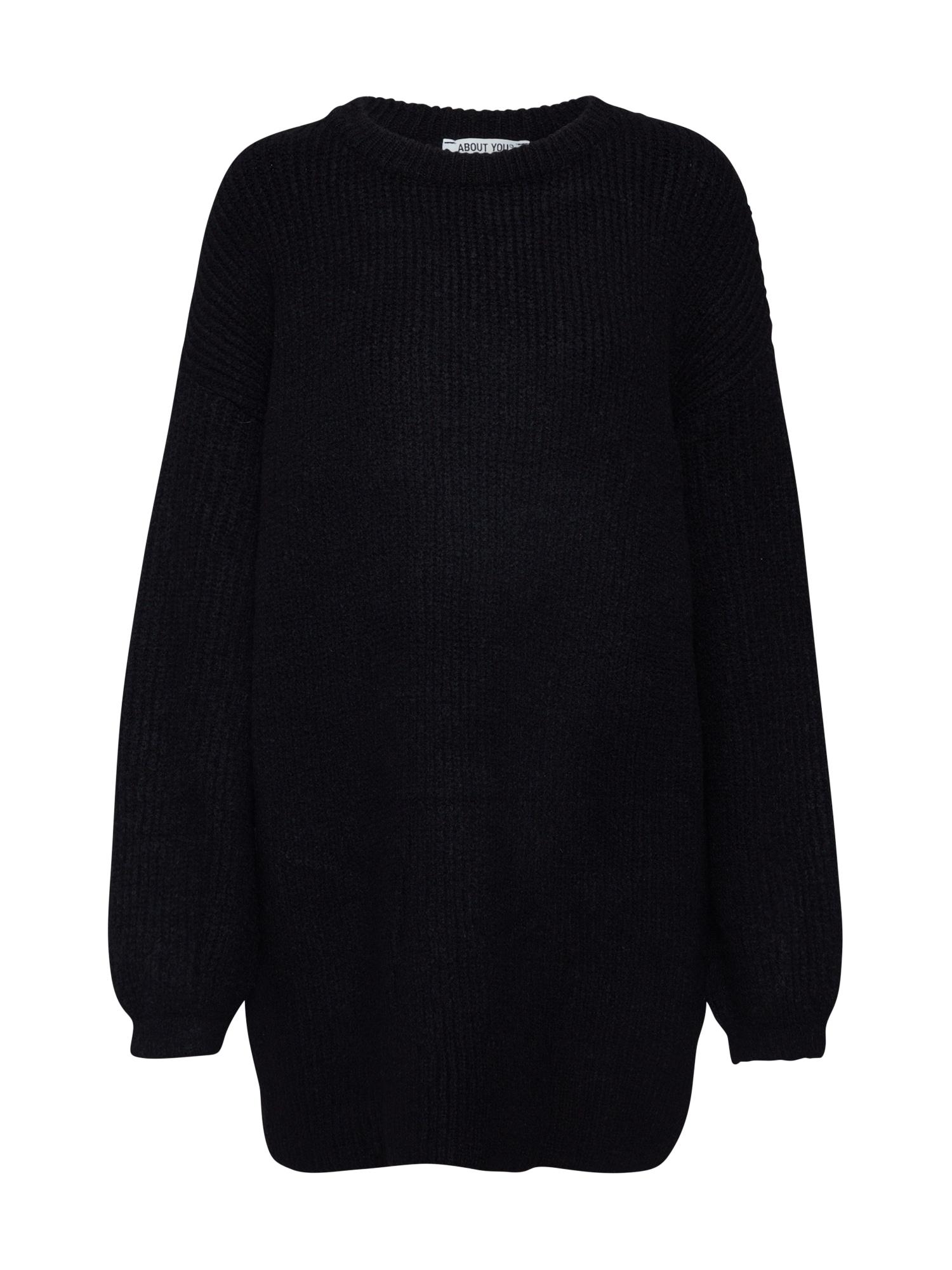ABOUT YOU Laisvas megztinis 'Mina' juoda
