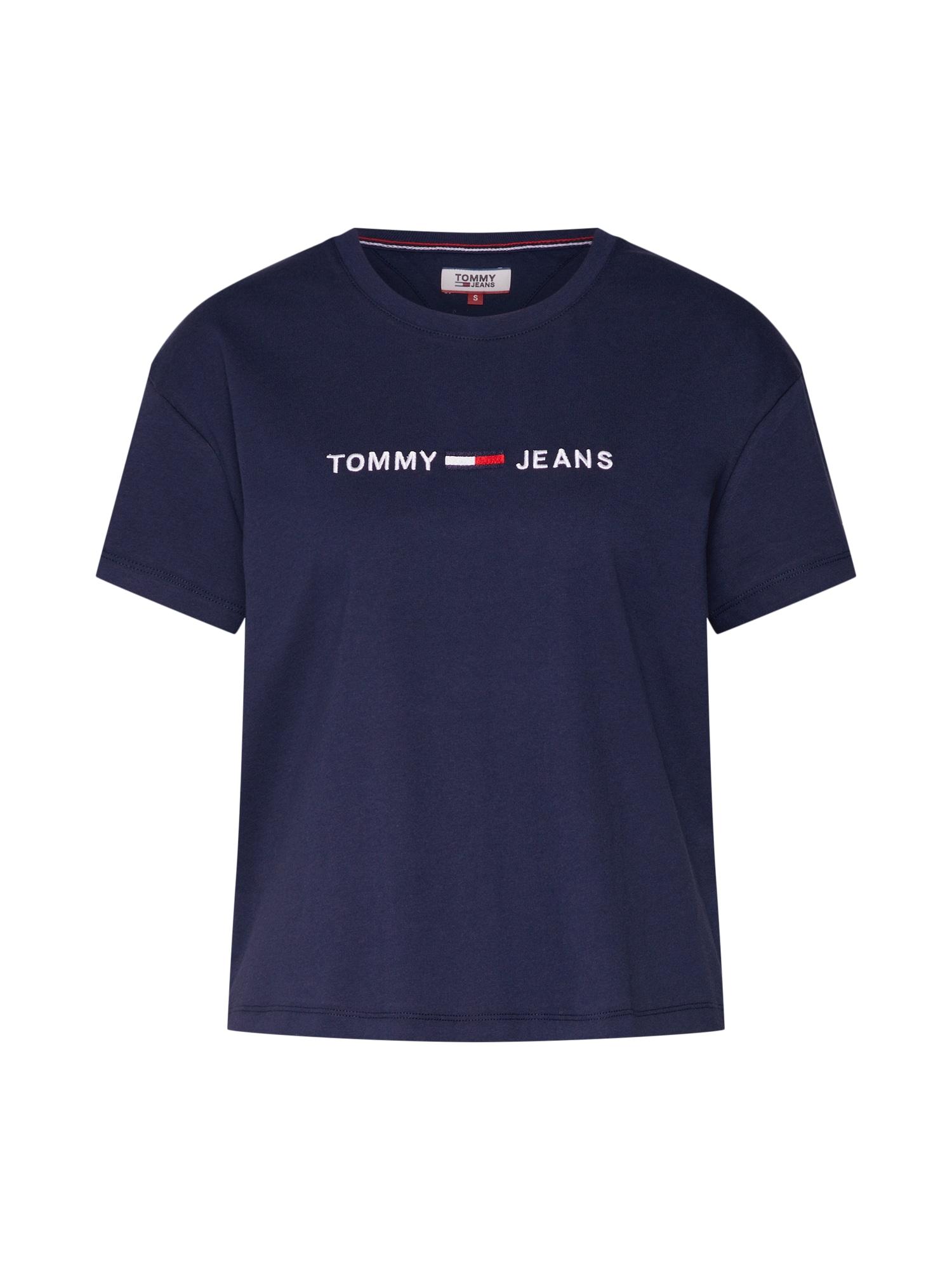 Tričko TJW CLEAN LINEAR LOGO TEE námořnická modř bílá Tommy Jeans