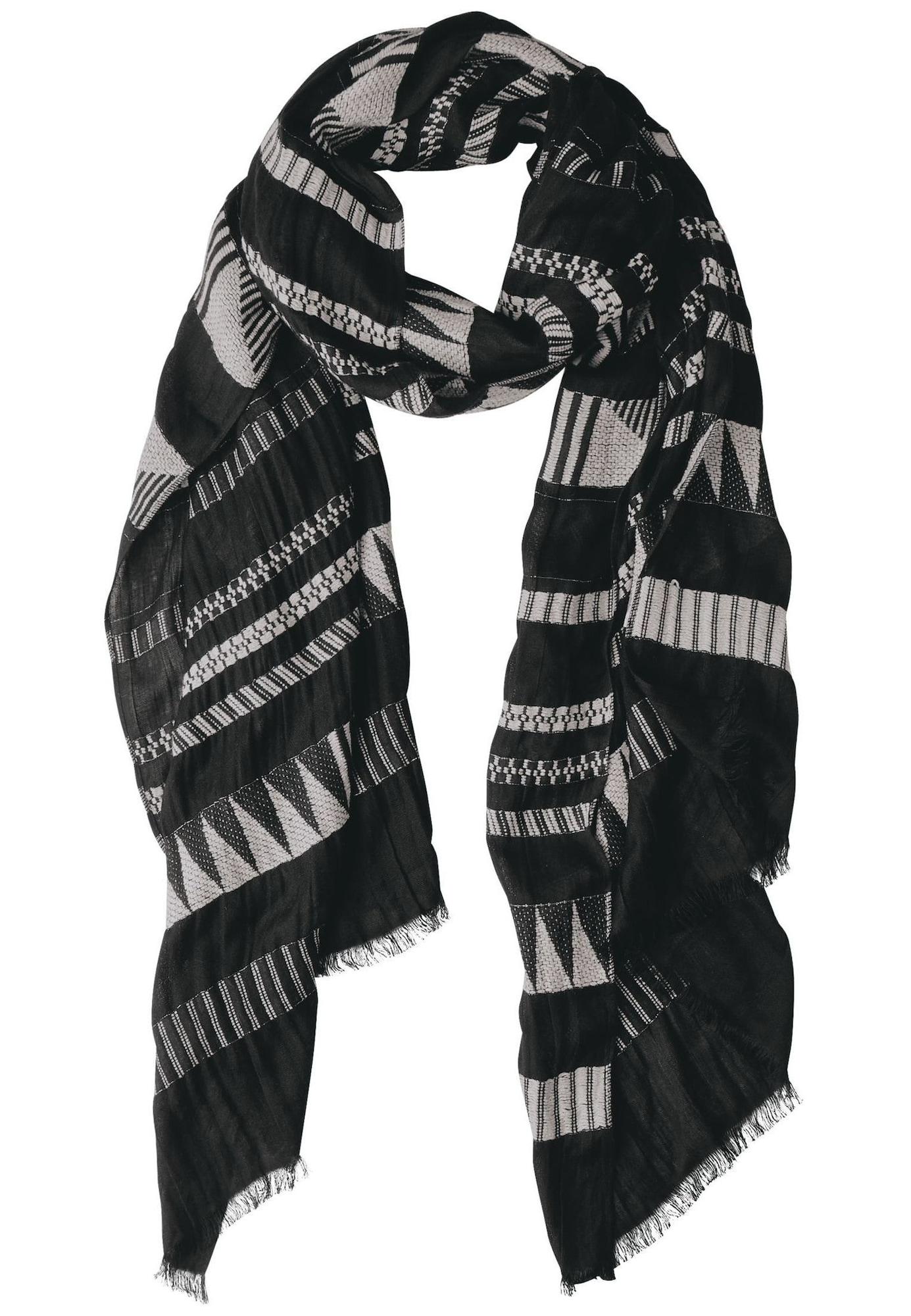 Schals für Frauen - STREET ONE Schal hellgrau schwarz  - Onlineshop ABOUT YOU