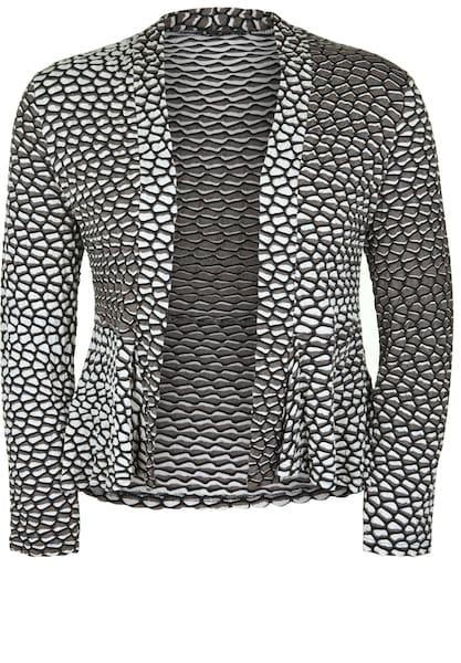 Jacken - Jacke mit zweifarbigem Seersucker › Doris Streich › beige braun  - Onlineshop ABOUT YOU