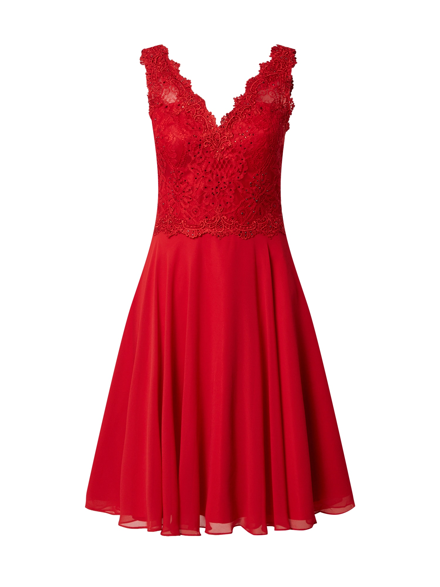 mascara Kokteilinė suknelė raudona