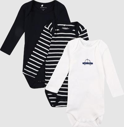 Name It Baby Langarm-Body in dunklem Sapphirblau 3er-Pack