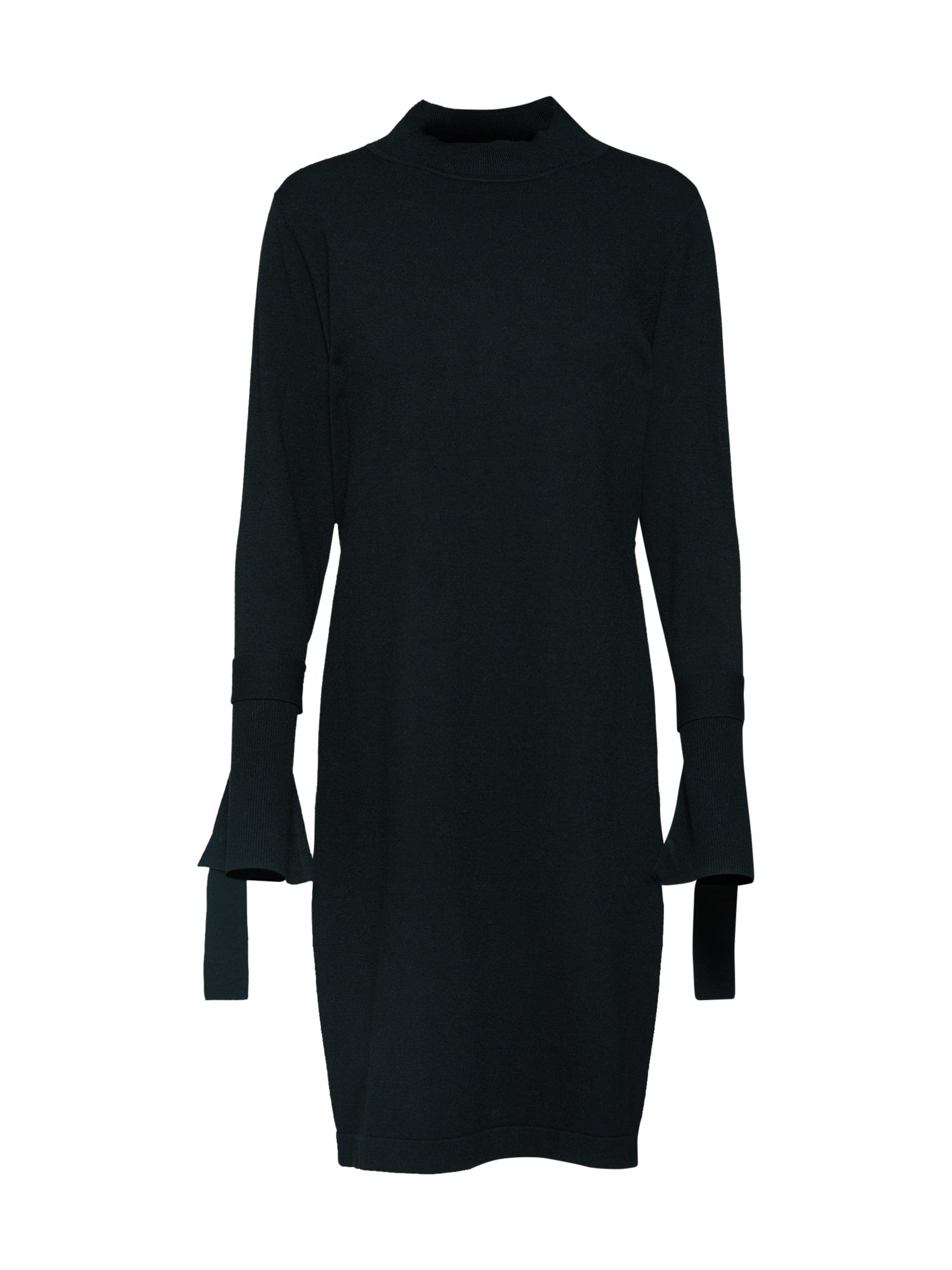 Úpletové šaty černá Talkabout
