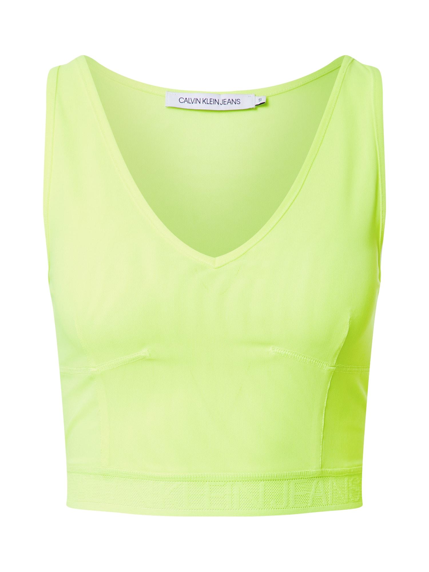 Calvin Klein Jeans Palaidinė be rankovių žaliosios citrinos spalva