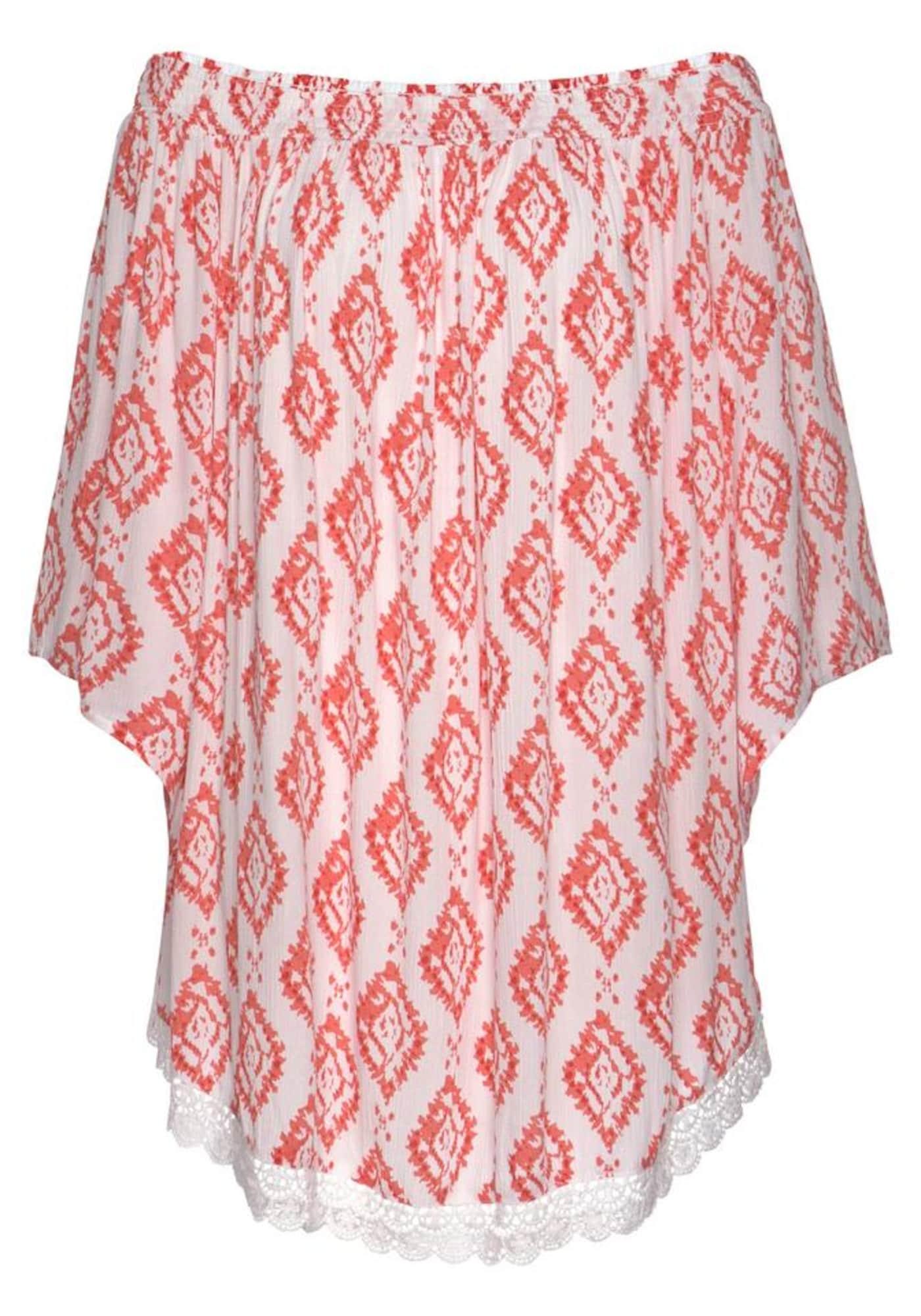 s.Oliver Paplūdimio suknelė balta / pastelinė raudona