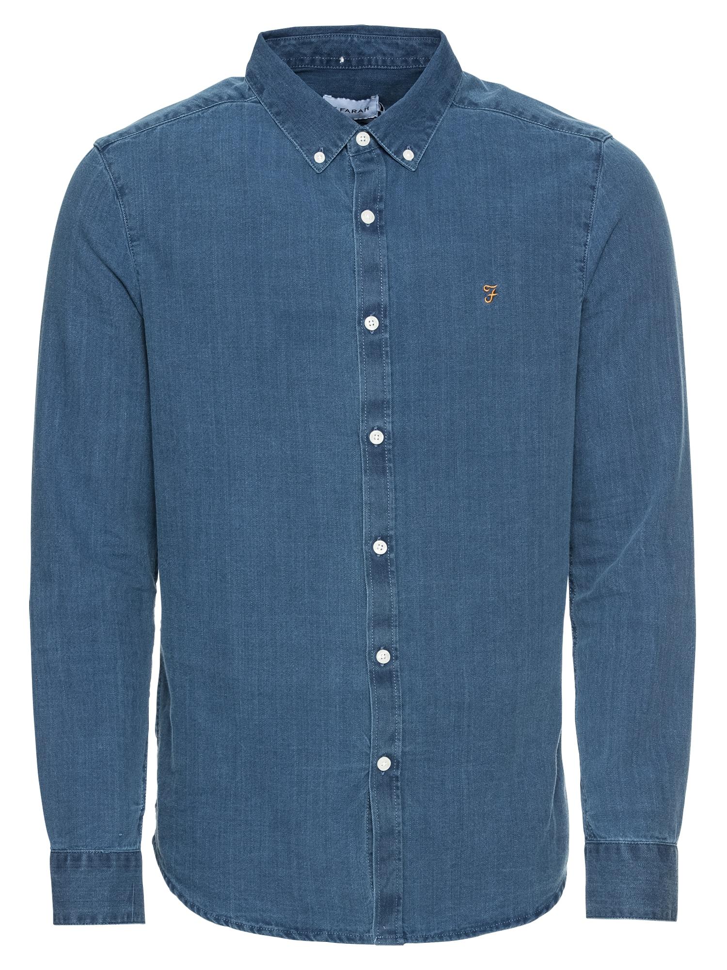 FARAH Dalykiniai marškiniai 'REWER INDIGO SLM LS' mėlyna