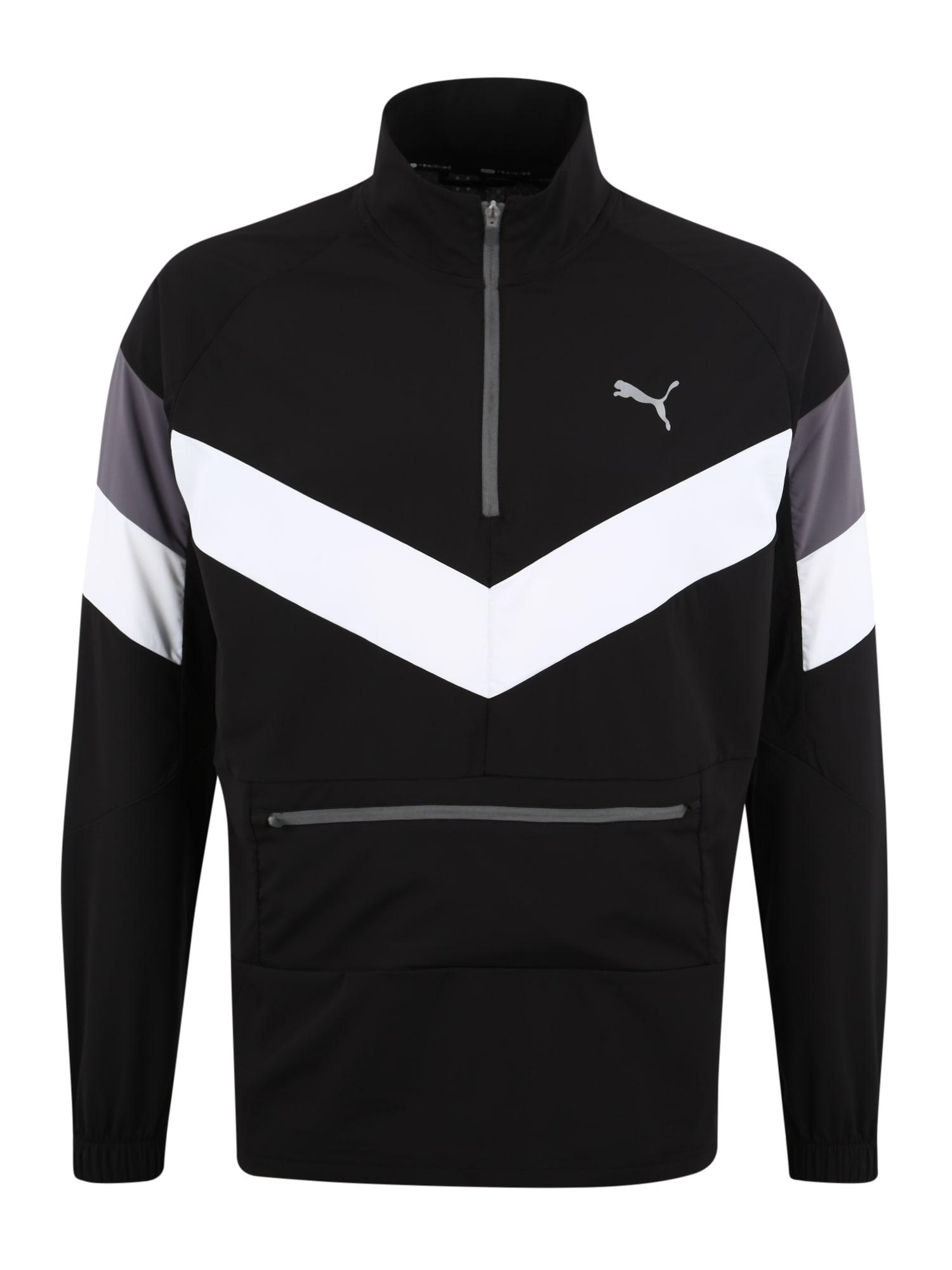 Sportovní bunda šedá černá bílá PUMA