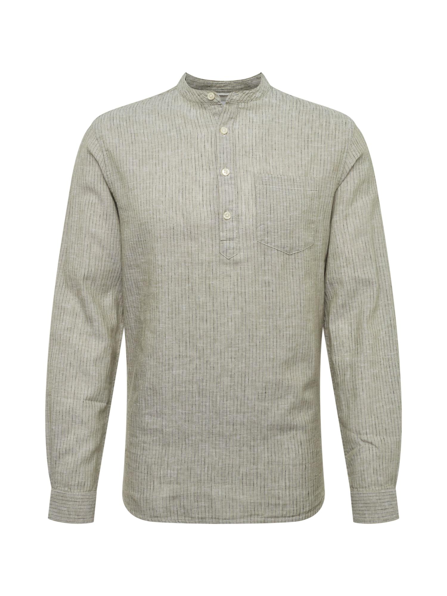 Košile CAIDEN LS STRIPE HALF PLACKET SHIRT zelená Only & Sons