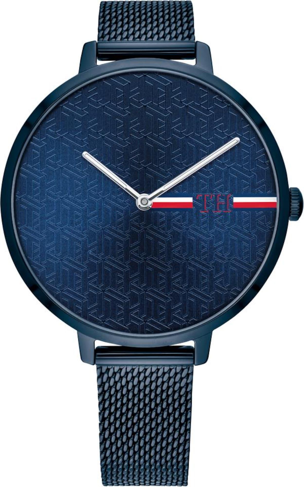 TOMMY HILFIGER Analoginis (įprasto dizaino) laikrodis tamsiai mėlyna