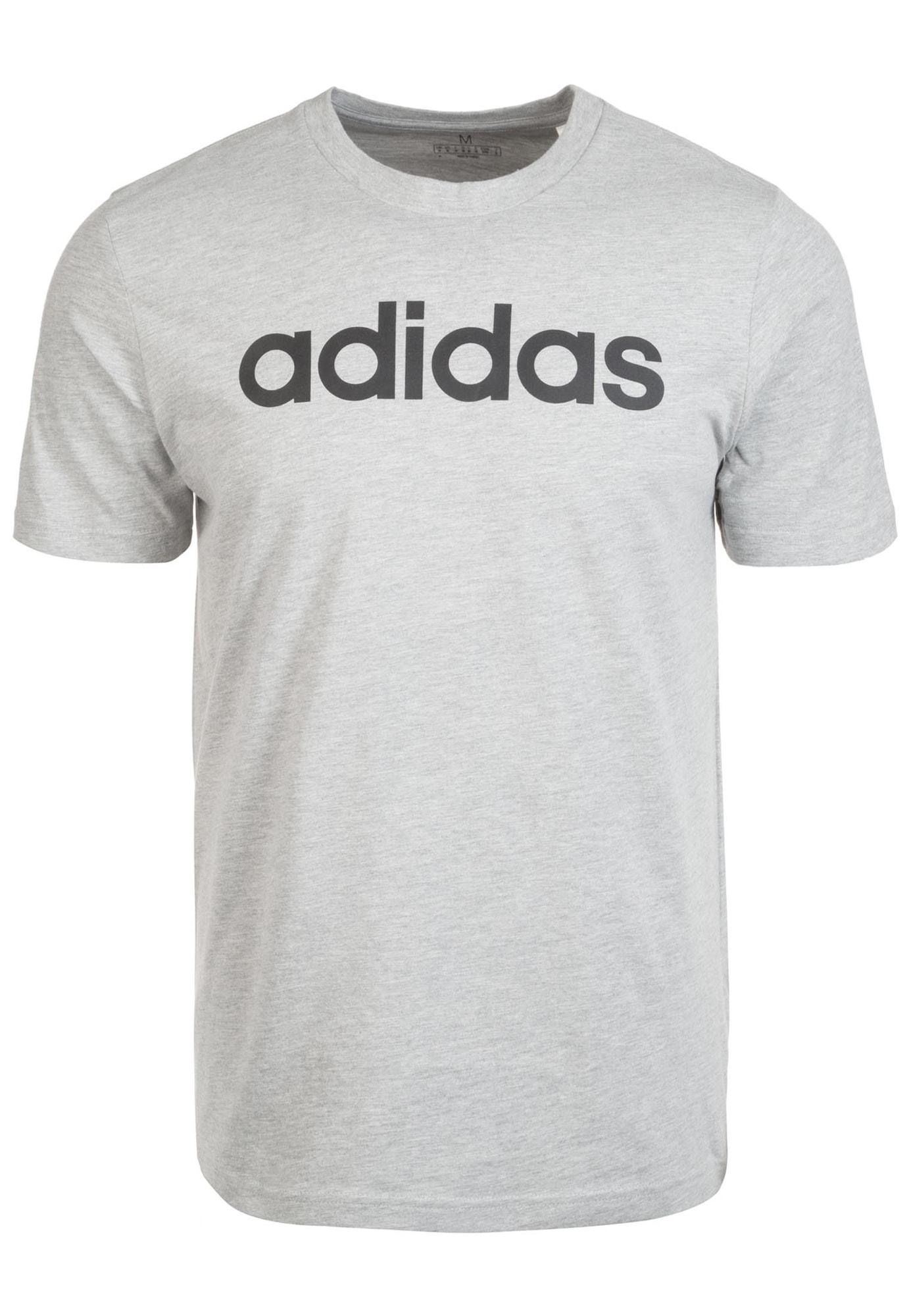 ADIDAS PERFORMANCE Sportiniai marškinėliai juoda / margai pilka