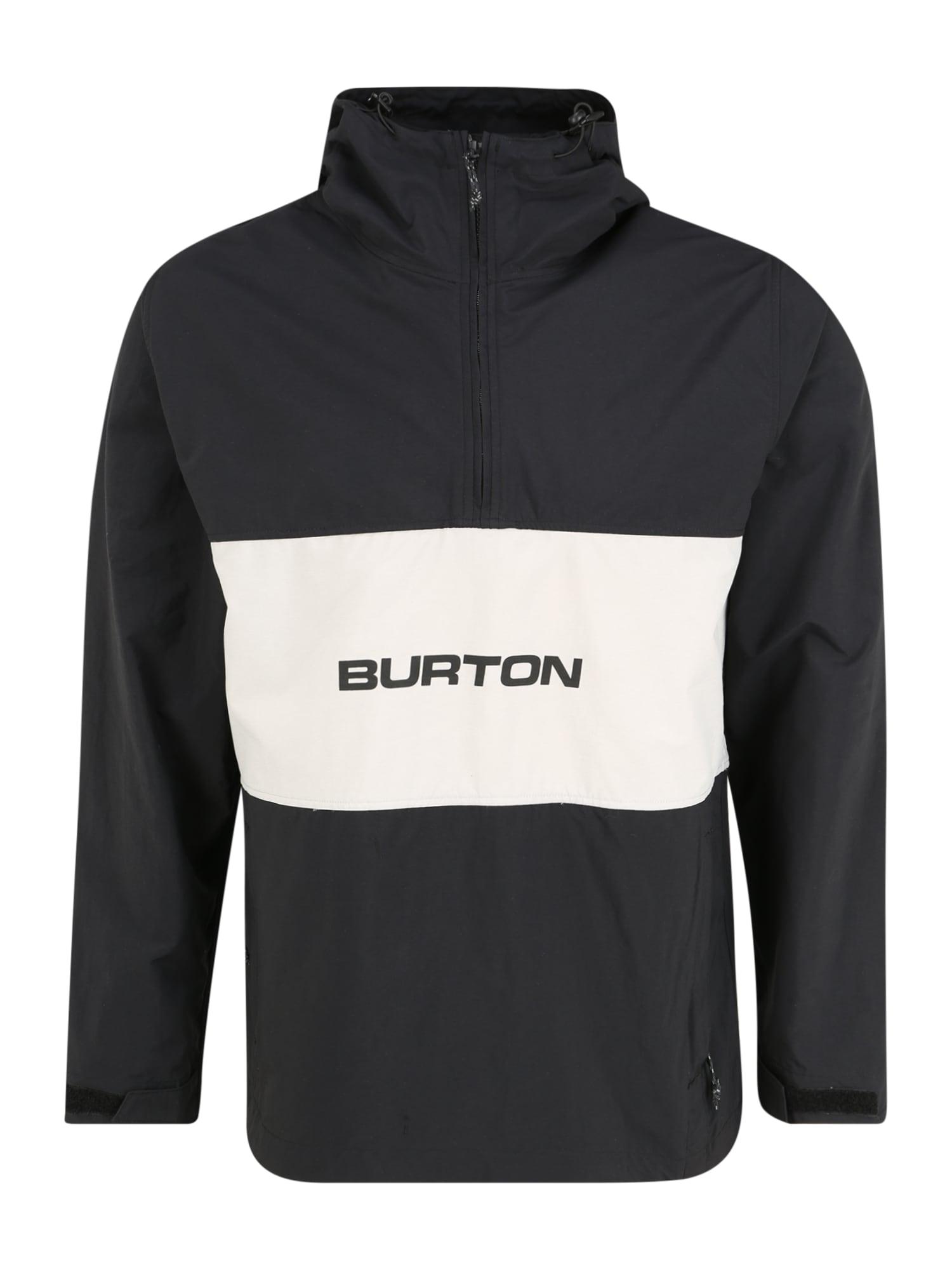 BURTON Sportinė striukė 'Men's Antiup Anorak Jacket' sidabro pilka / juoda