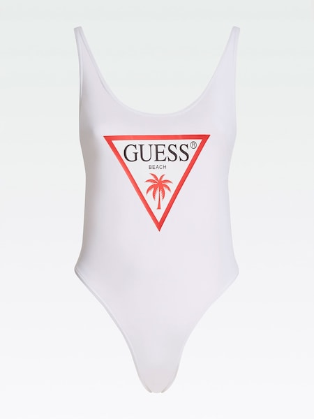 Bademode - Badeanzug › Guess › weiß rot  - Onlineshop ABOUT YOU
