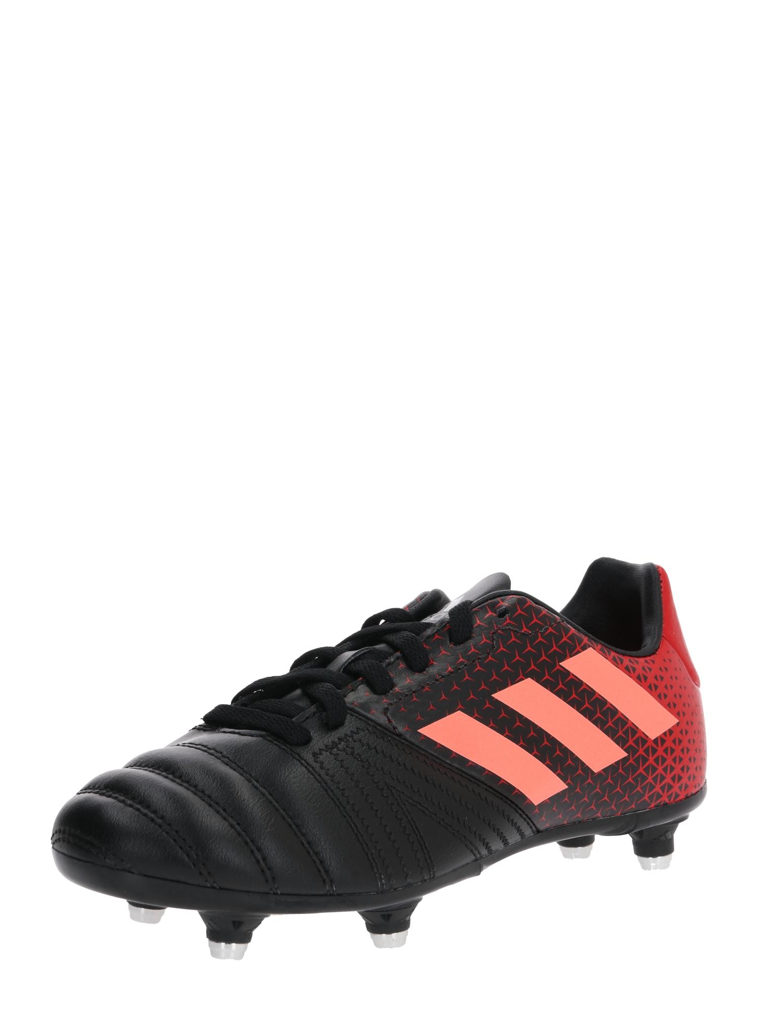 ADIDAS PERFORMANCE Sportovní boty 'All Blacks'  šedá / červená / černá