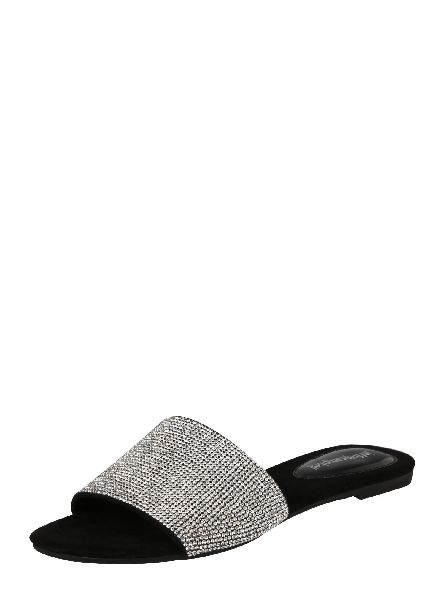 Slipper SPARQUE černá stříbrná Jeffrey Campbell