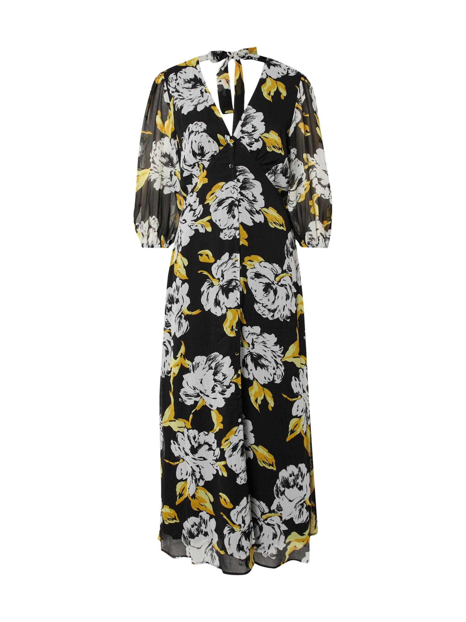 Gestuz Suknelė juoda / geltona