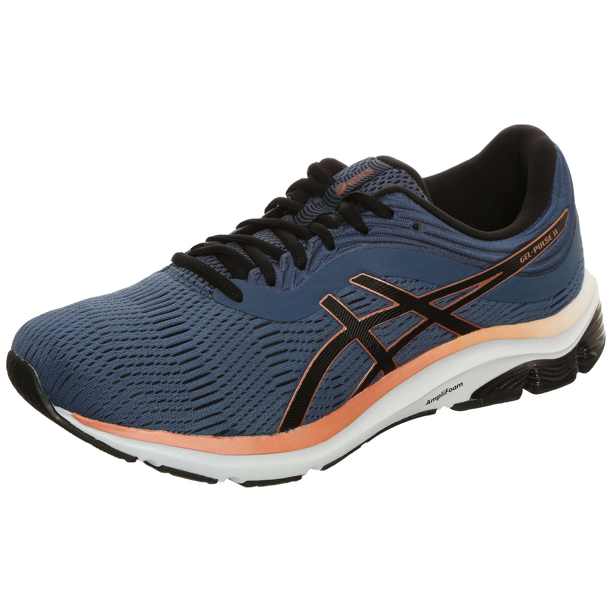 ASICS Bėgimo batai juoda / mėlyna / oranžinė