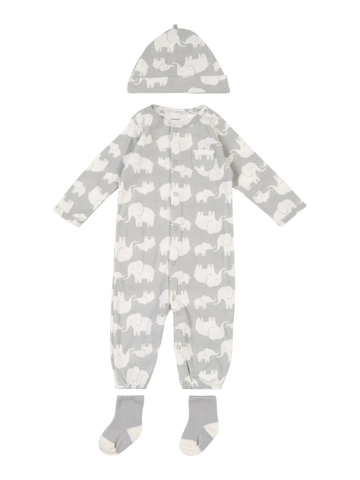 Carters Prádlo-souprava Elephant šedá bílá Carter's