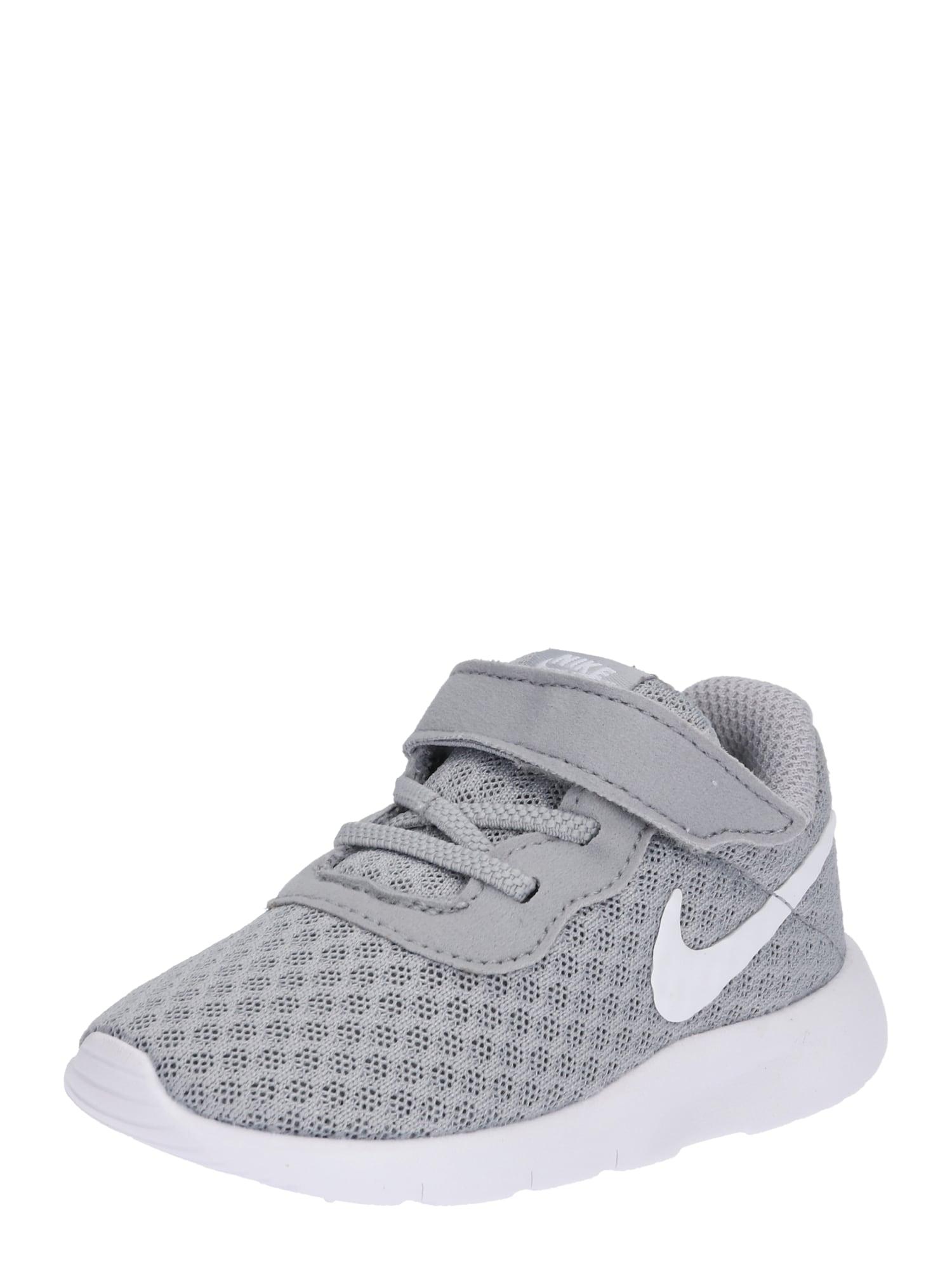 NIKE Sportiniai batai 'Tanjun Toddler' pilka / balta
