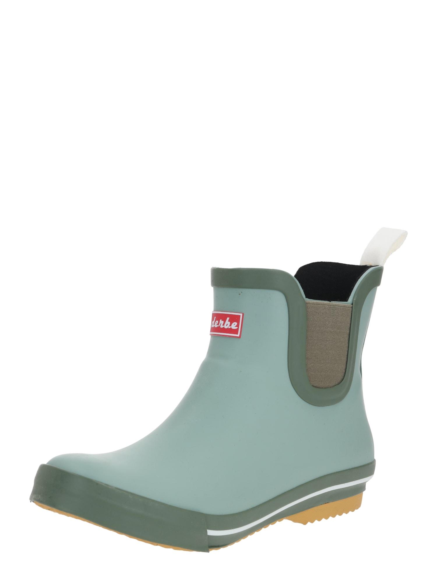 Derbe Guminiai batai 'Wattpuuschen' šviesiai žalia