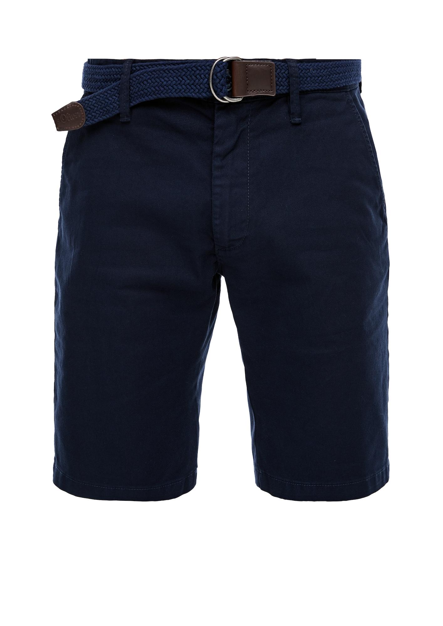 """s.Oliver """"Chino"""" stiliaus kelnės tamsiai mėlyna"""