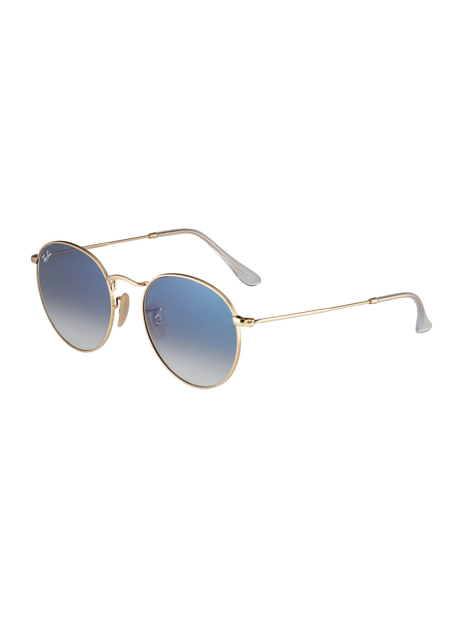 Ray-Ban Slnečné okuliare 'Round'  svetlomodrá / zlatá