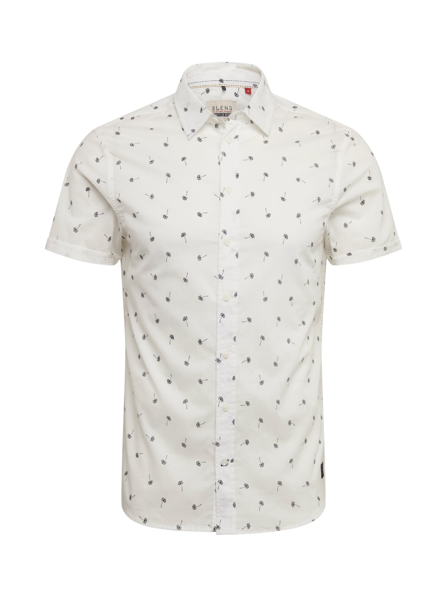 BLEND Dalykiniai marškiniai 'Shirt' mėlyna / balkšva