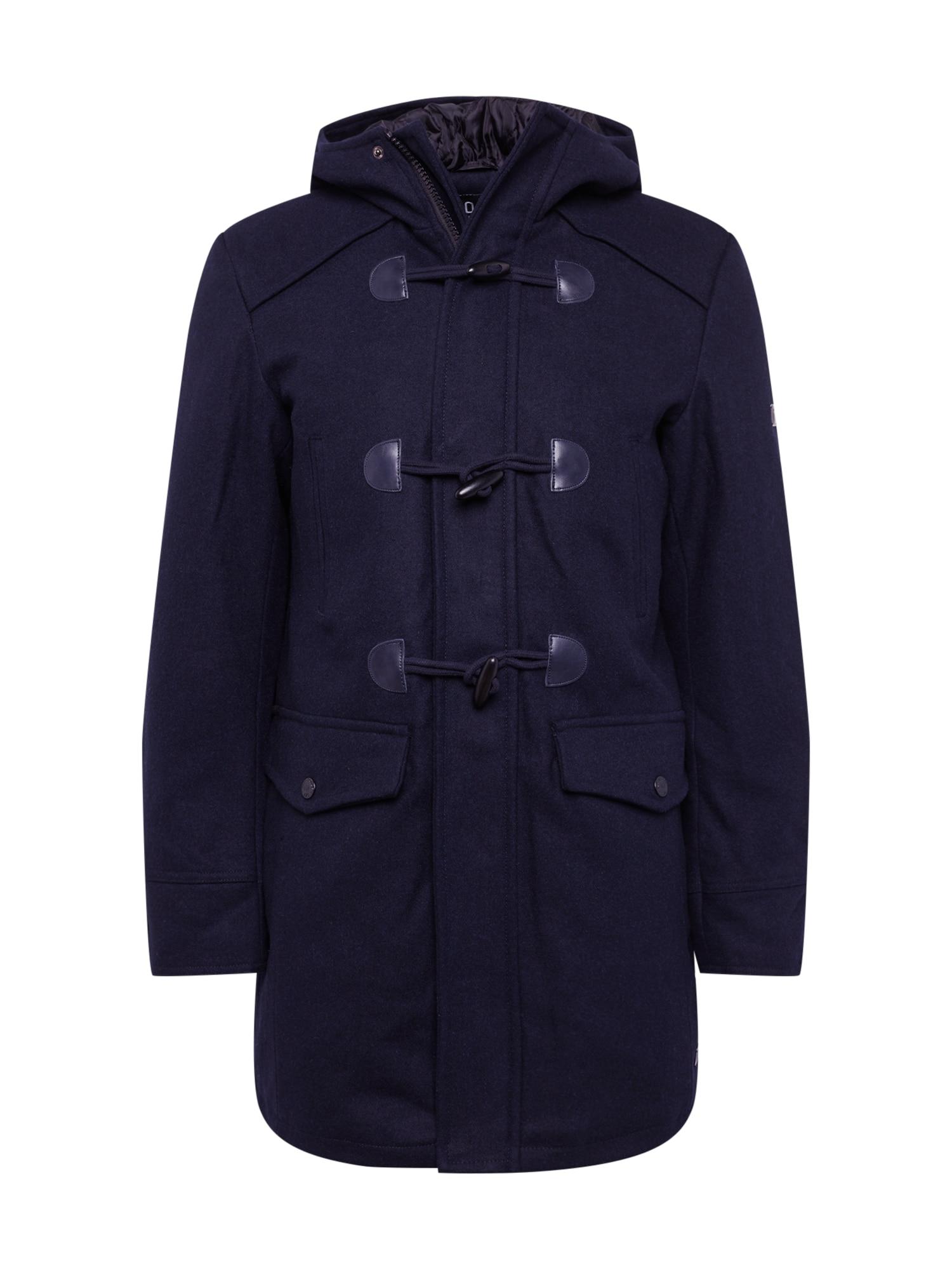 INDICODE JEANS Žieminis paltas 'Liam Solid' tamsiai mėlyna
