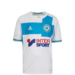 ADIDAS,ADIDAS PERFORMANCE Kinder,Jungen Trikot Olympique Marseille Trikot Home 2016 2017 blau,weiß   04057282372857