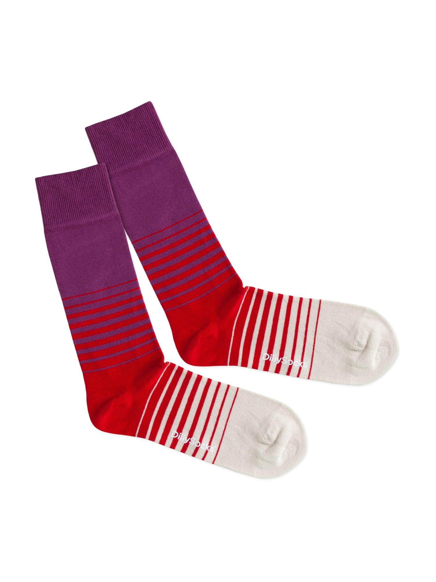 DillySocks Kojinės 'Heat Up' smėlio / purpurinė / raudona