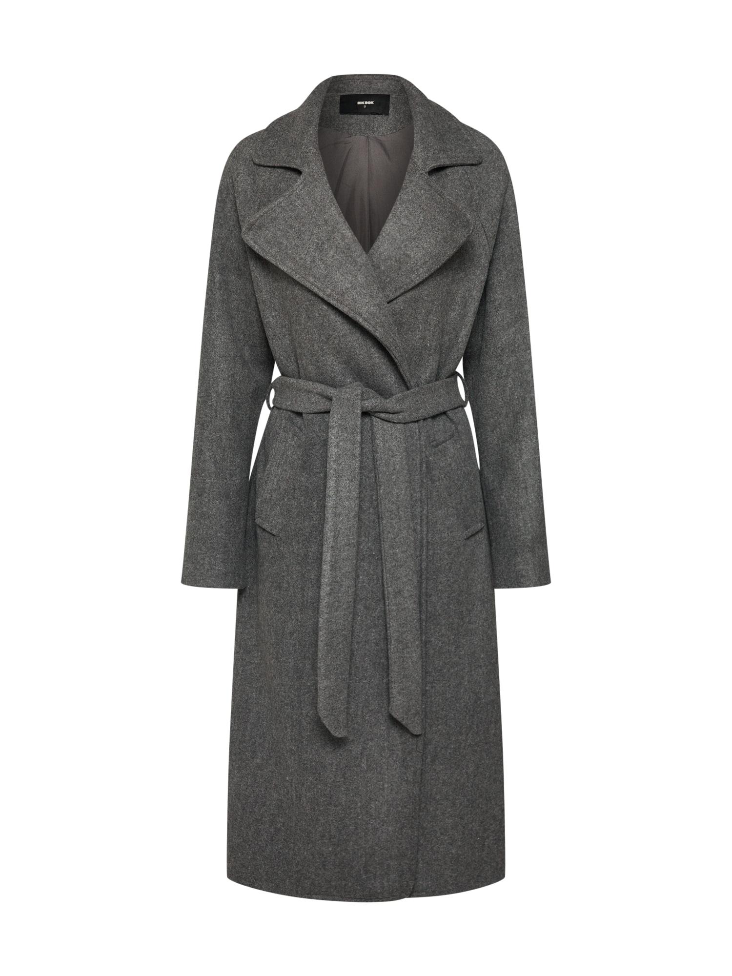 Přechodný kabát šedý melír Bik Bok