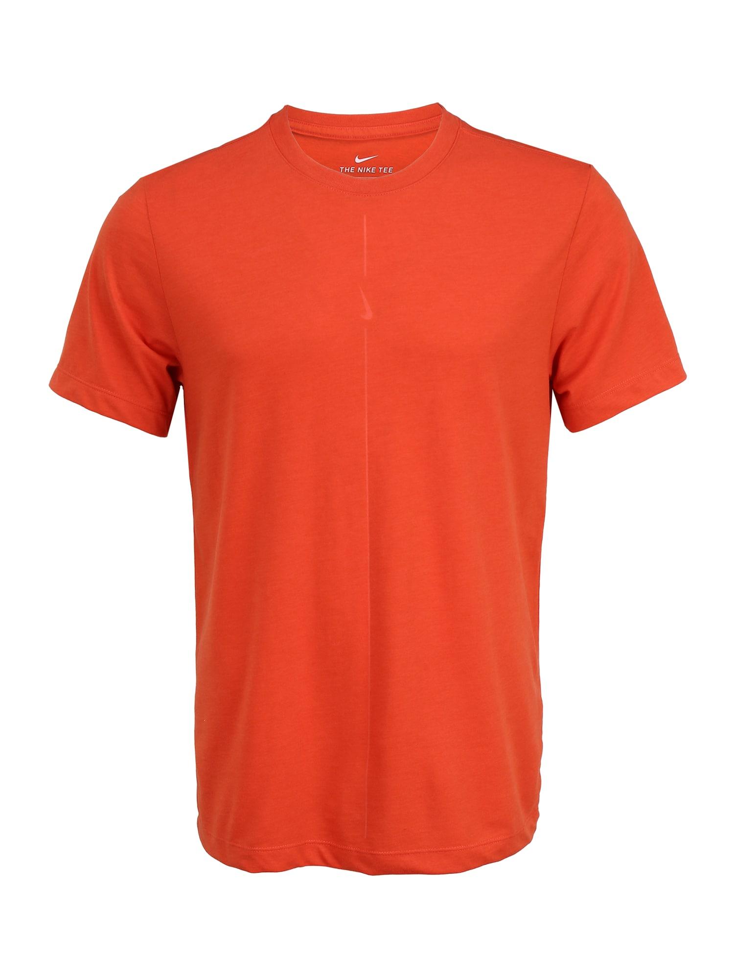 NIKE Sportiniai marškinėliai 'Nike Yoga Dri-FIT' raudona