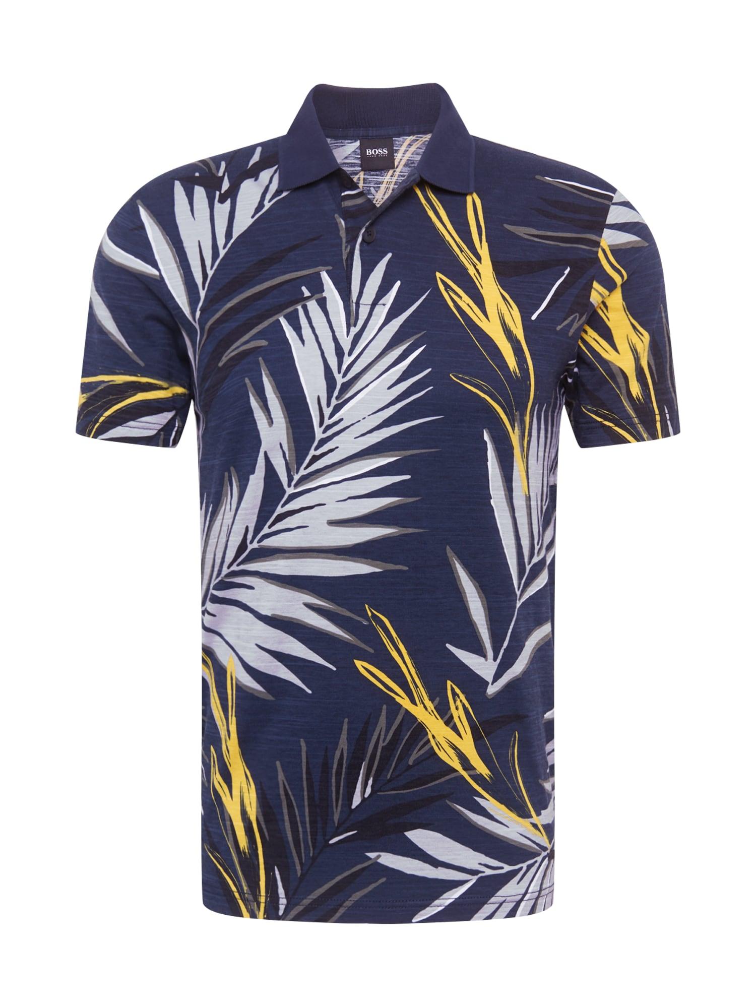 BOSS Marškinėliai 'Peleaf' tamsiai mėlyna