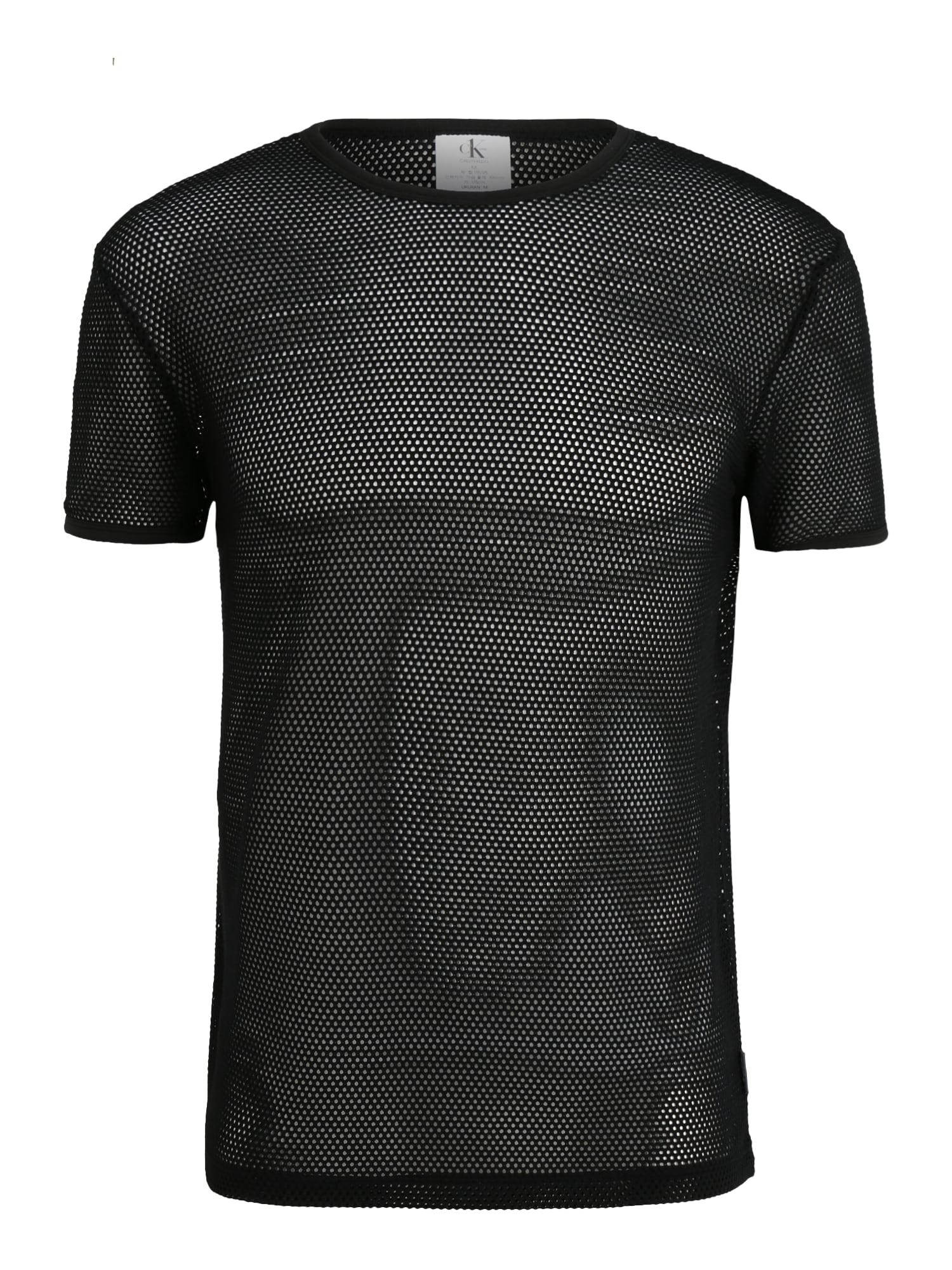 Calvin Klein Underwear Trumpa pižama 'S/S CREW NECK' juoda