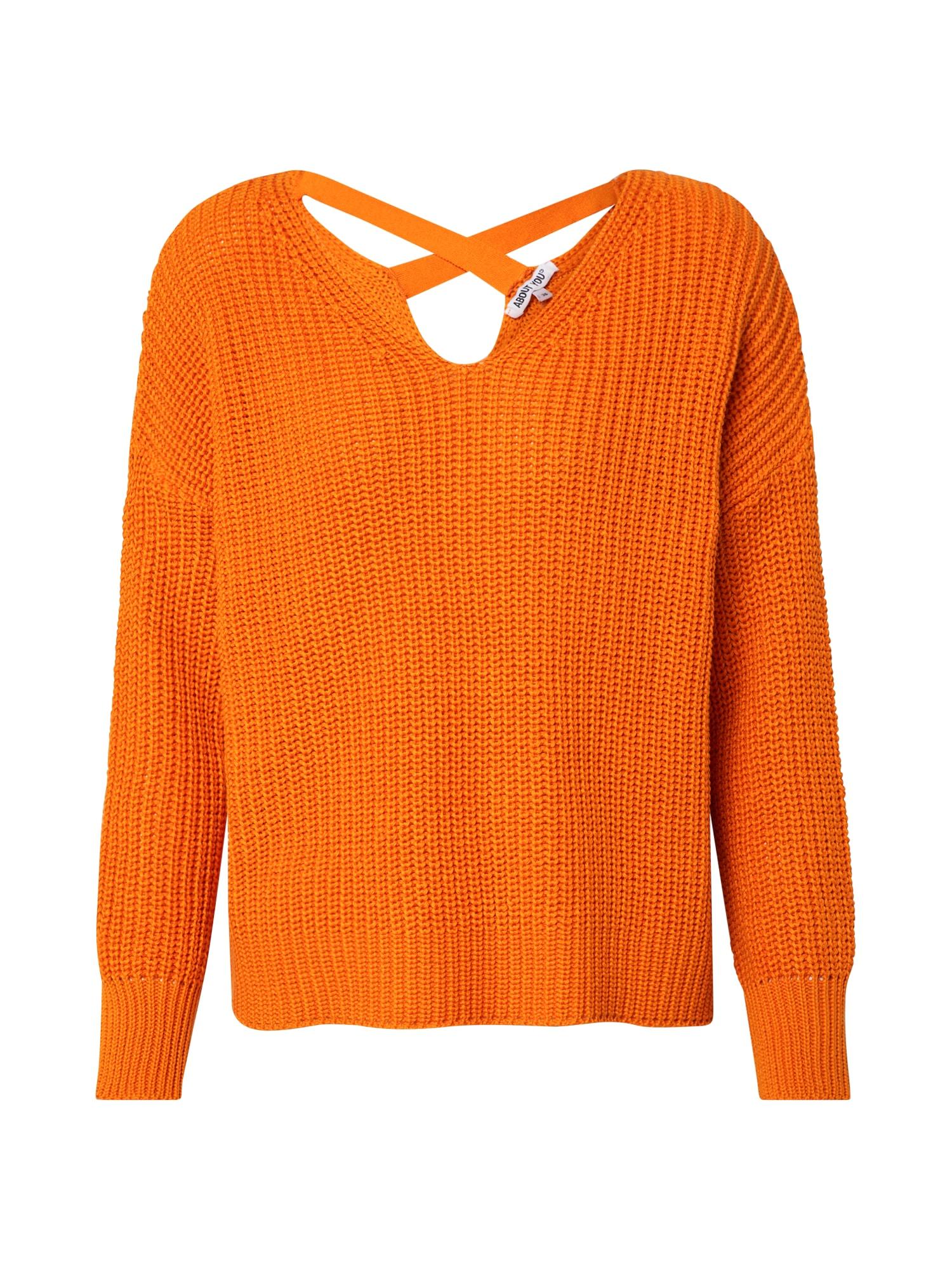 ABOUT YOU Megztinis 'Liliana' oranžinė